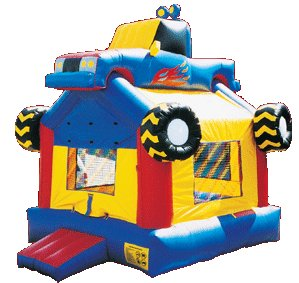 Flying 4x4 Monster Truck Bounce House Rental Denver