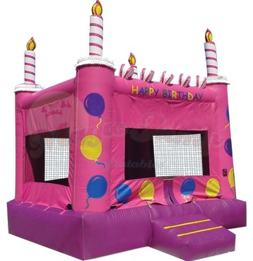 Sweet Suite Pink Cake Bounce House Rental Denver