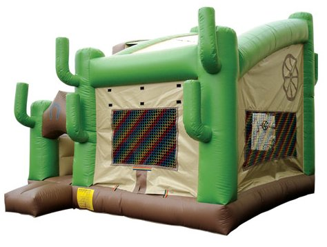 Cactus Western Bouncer & Slide Combo Rental Denver