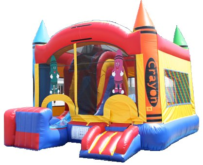 Crayon Large Box Bouncer & Slide Combo Rental Denver