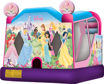 Disney Princess Bounce & Splash Bouncer & Slide Water Combo Rental Denver