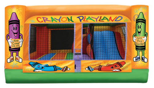 Indoor Crayon Playland Toddler Bouncer Slide Combo Rental Denver