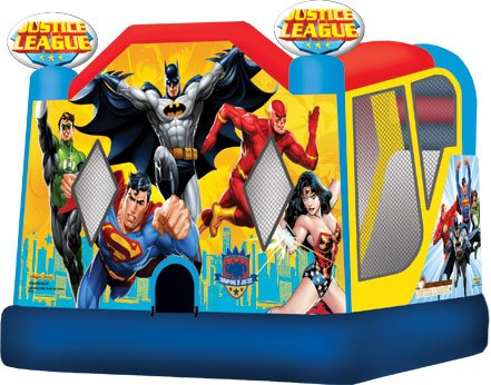 Justice League Bounce & Splash Bouncer & Slide Water Combo Rental Denver
