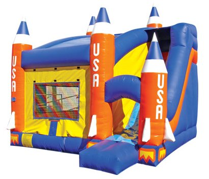 Missile Rocket Bouncer & Slide Combo Rental Denver