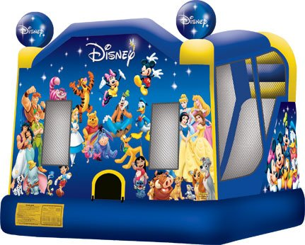 World Of Disney Bounce & Splash Bouncer & Slide Water Combo Rental Denver