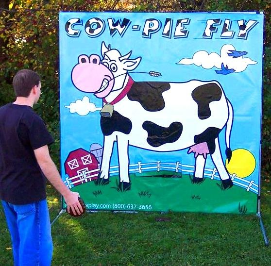 Cow Pie Fly Carnival Game Rental Denver