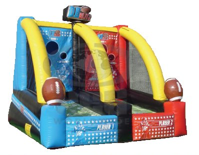 Inflatable Football Toss Interactive Game Rental Denver