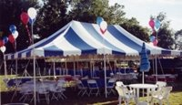 20x20 Center Pole Tent Rental Denver